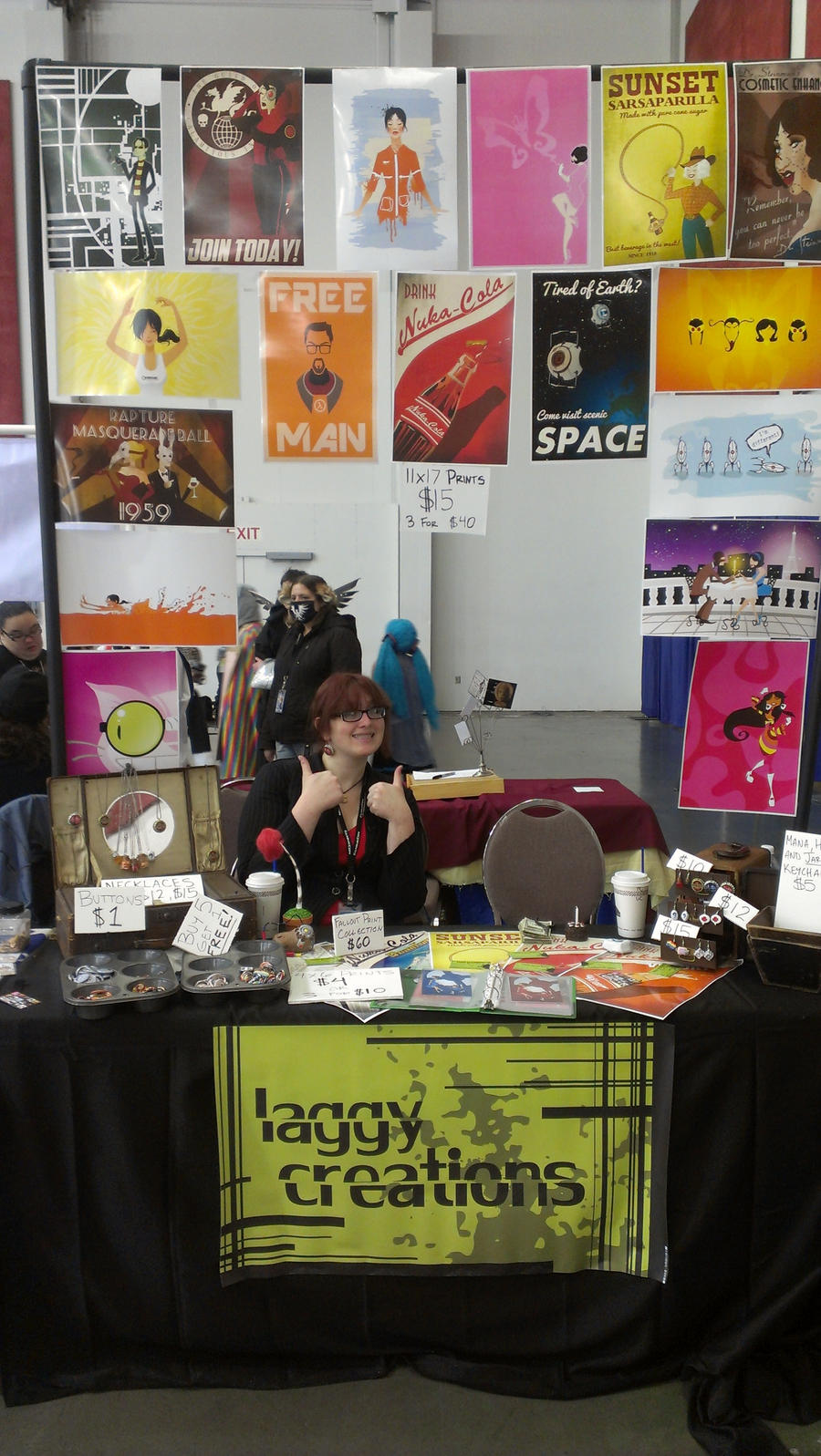 Fanime 2012 Artist Alley Table by LaggyCreations
