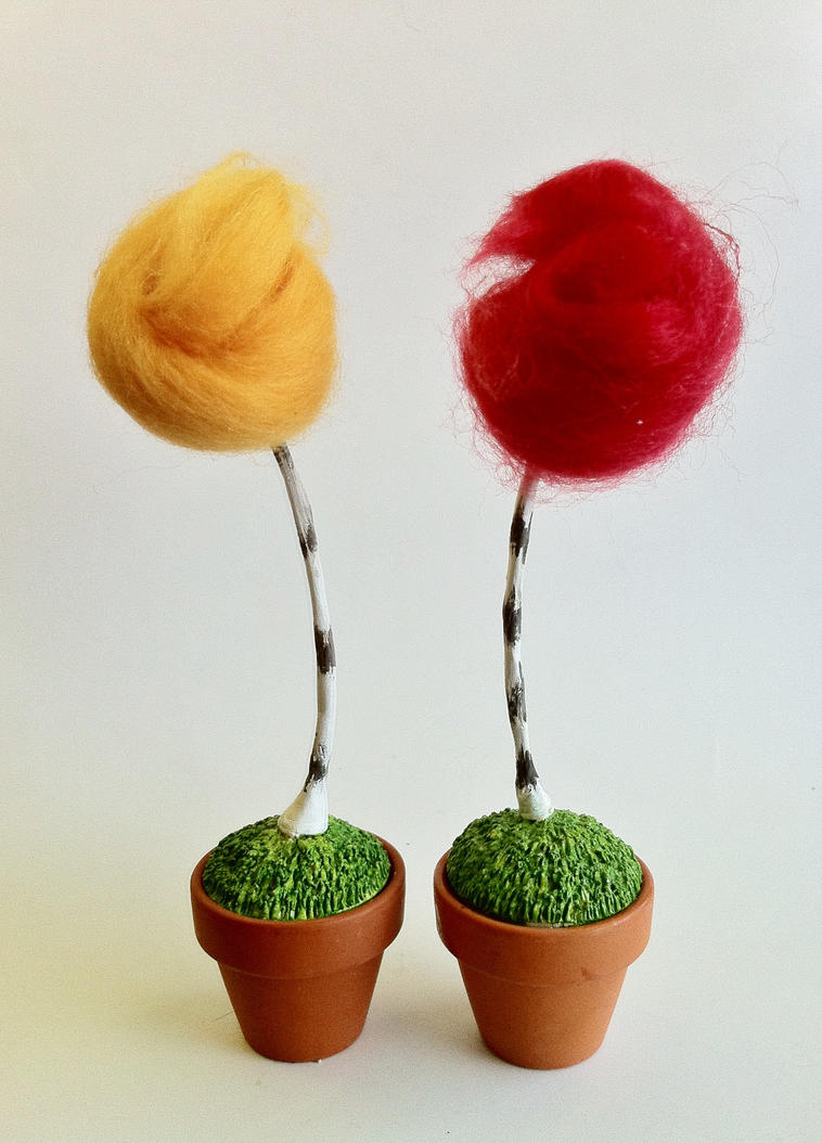 Tiny Truffula Trees by LaggyCreations