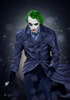 The Joker (Heath Ledger Tribute) by dimitrosw