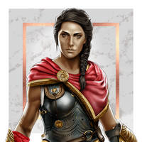 Assassin's Creed: Odyssey - Kassandra by dimitrosw