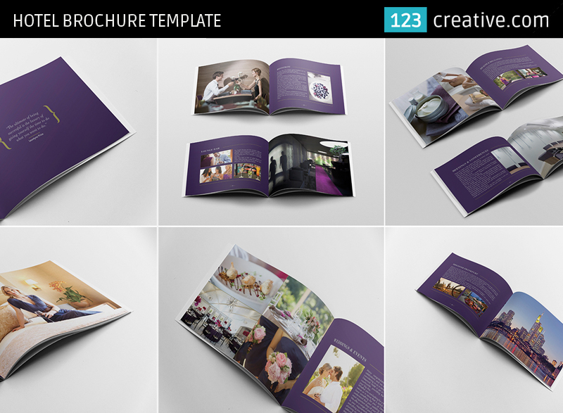 hotel brochure template - hotel brochure template professional layout by