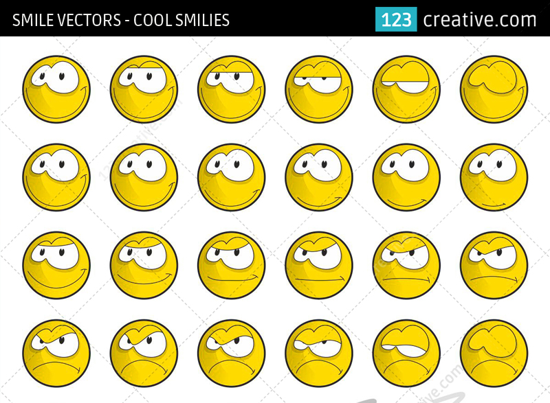 Smile vectors - cool smiles graphics by 123creative