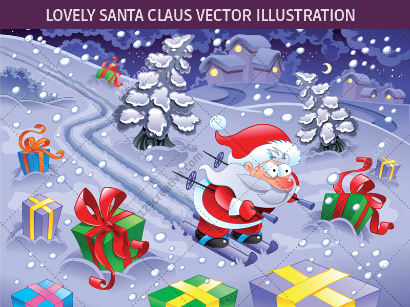 Lovely Santa Claus vector illustration by 123creative