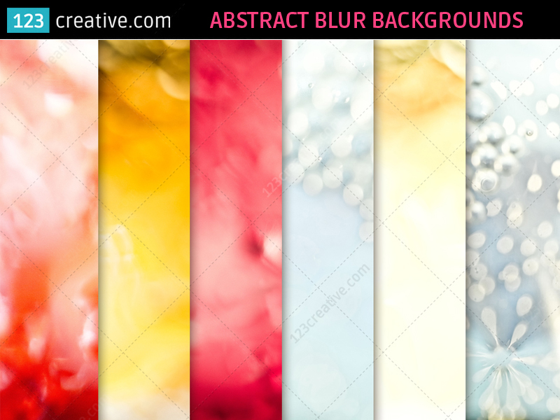 Abstract Blur Backgrounds - hi-res textures by 123creative