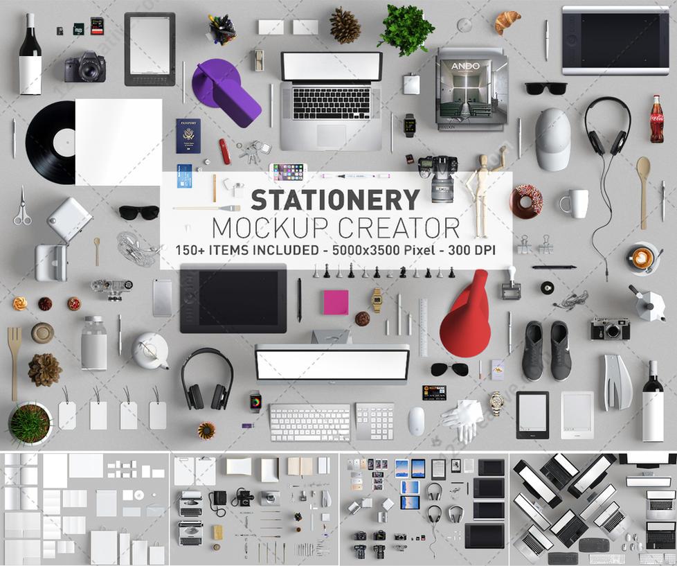 Stationery Mockup creator - Mockup scene generator by 123creative