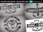 Grunge logo design badges - Grunge and clean logo