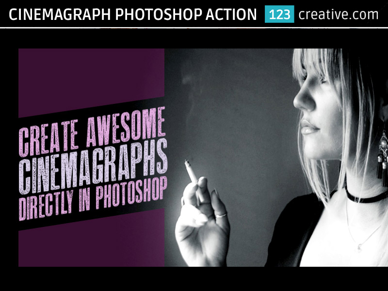 Cinemagraph Photoshop Action - animated GIF image by 123creative