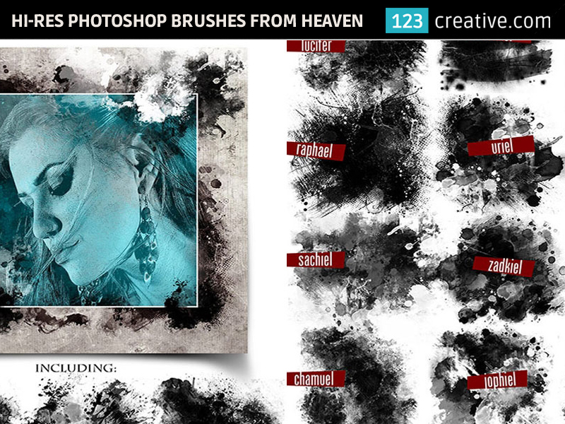 15 Hi-res Photoshop brushes from Heaven by 123creative