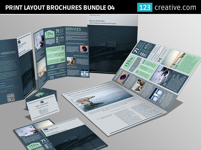 Print layout brochures, Flyer and Business card by 123creative