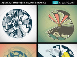 Abstract futuristic vector graphics by 123creative