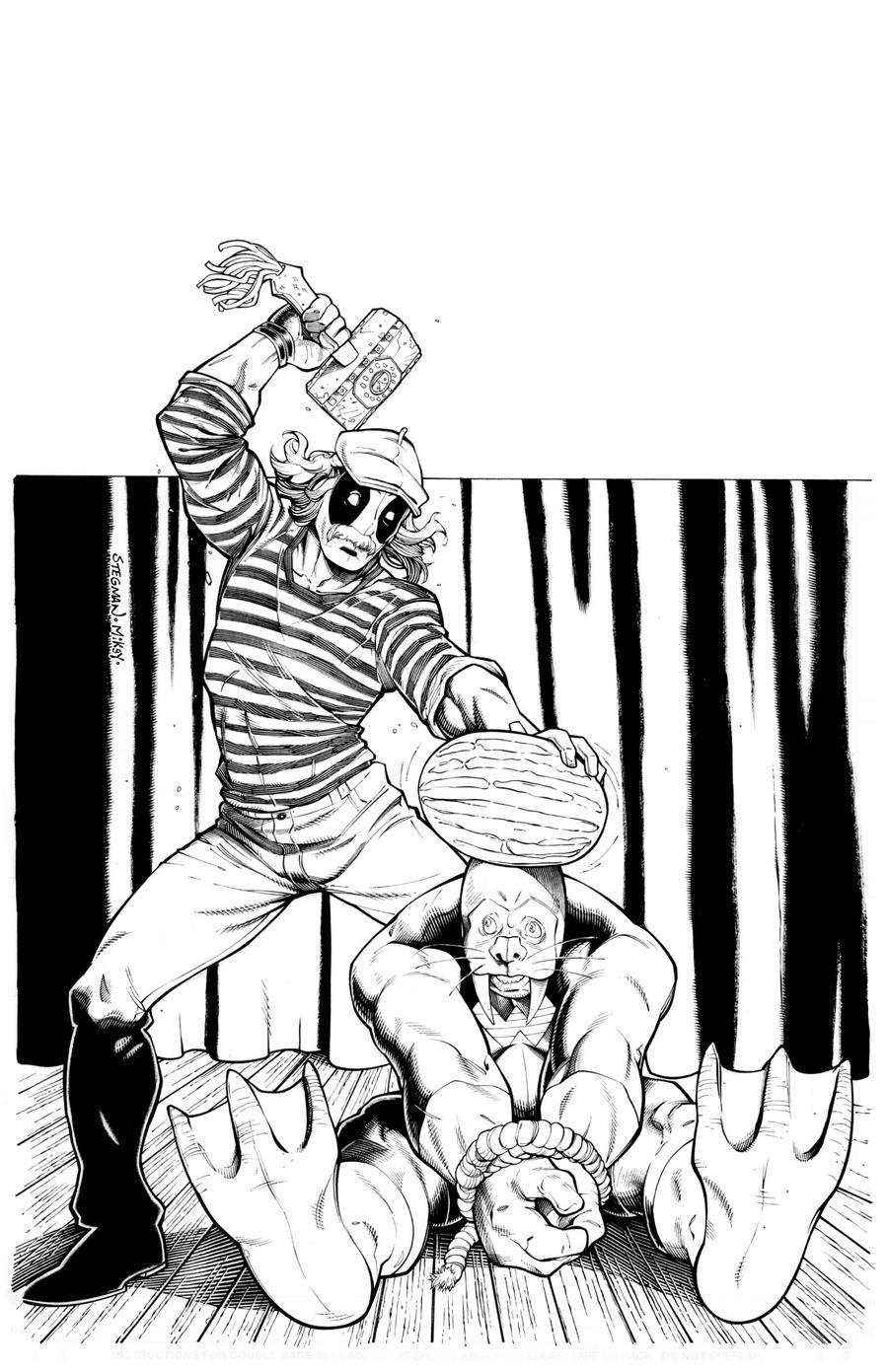 Deadpool Fear Itself cover 2 by Frisbeegod