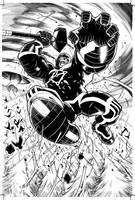 Hulk Vs Dracula splash by Frisbeegod