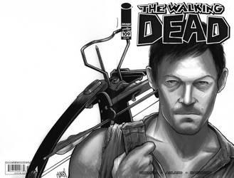 Daryl Dixon Walking Dead sketchcover by Frisbeegod