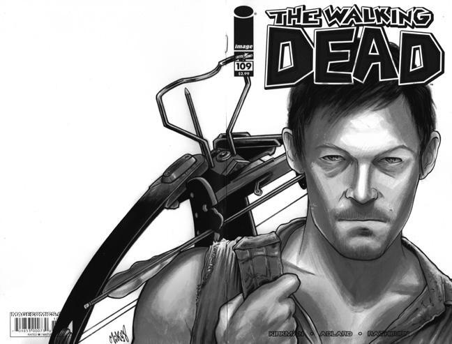 Daryl Dixon Walking Dead sketchcover