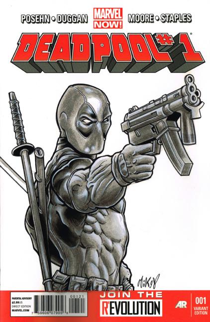 Deadpool sketchcover by Frisbeegod