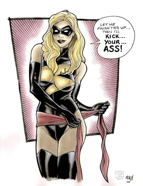 Ms Marvel commission by Frisbeegod