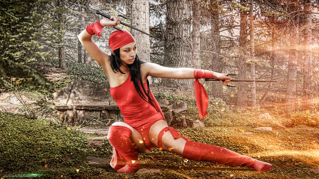 Elektra and the secret Garden by Kartoffel83