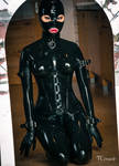Hot as Hell Fit as .... in Black Latex