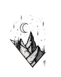 Moonlit Mountains.
