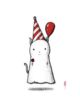 Party Ghost Cat.