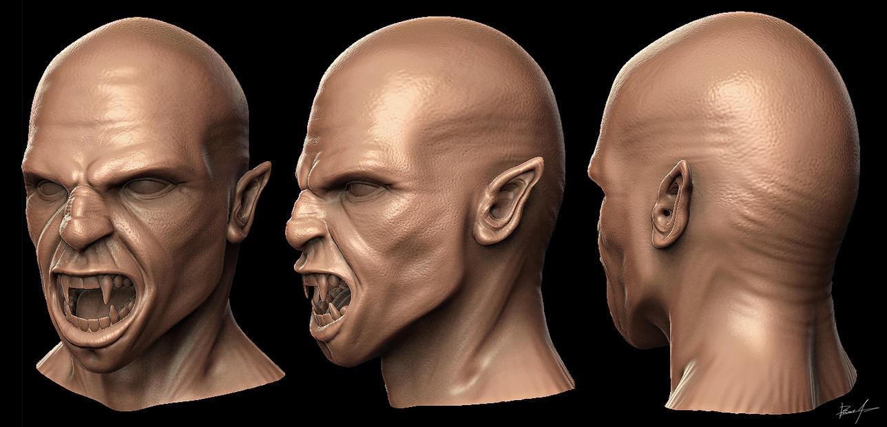 Vampire Head 001 by spybg