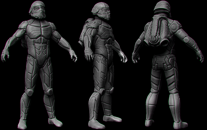 Male armor 184 by spybg