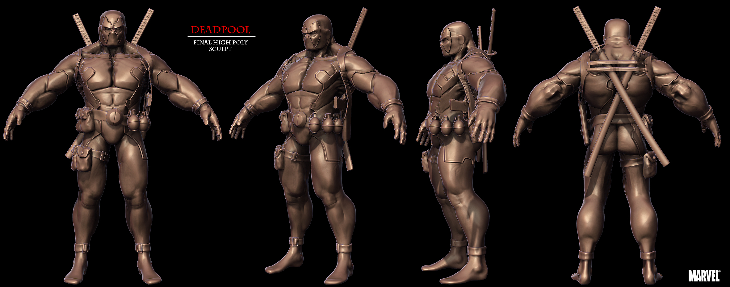 DeadPool HighPoly Sculpt by spybg