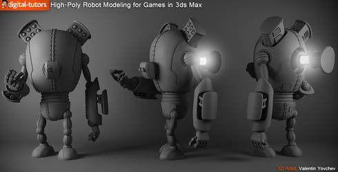 High Poly Robot Modeling for Games in 3ds Max