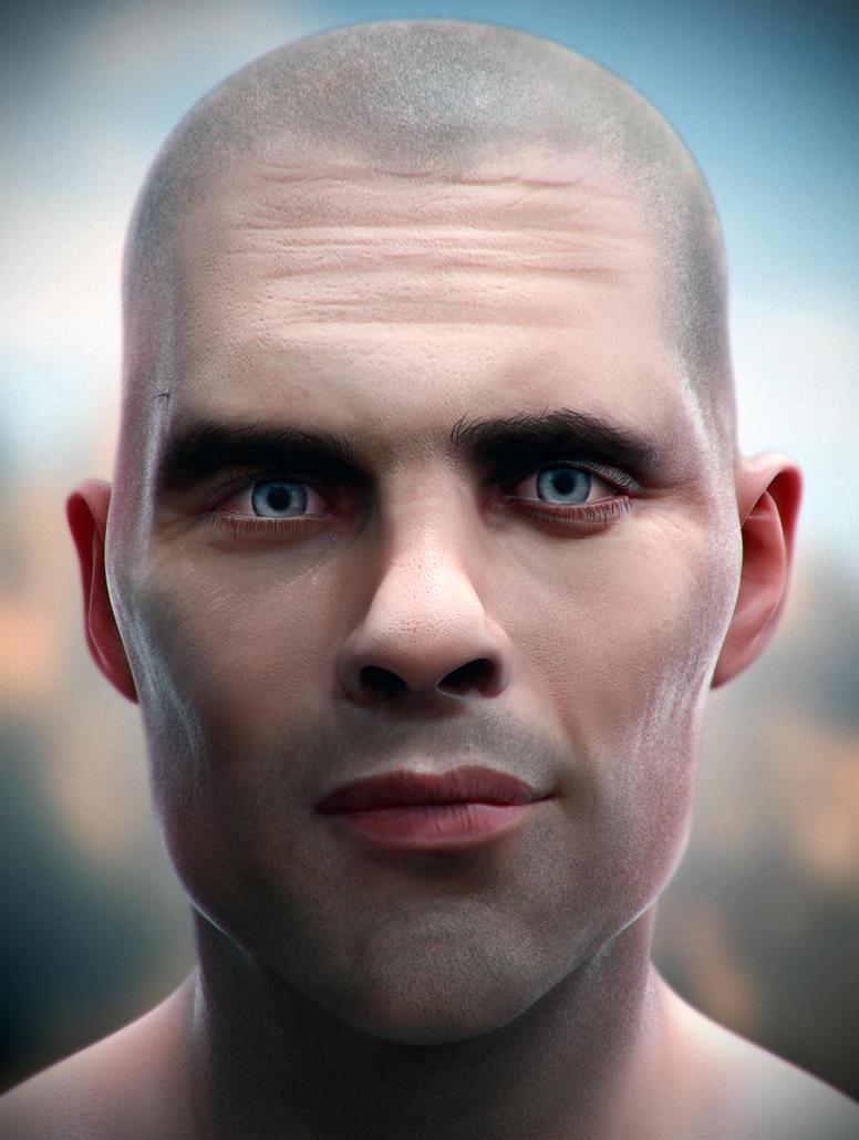 Male Head #40 by spybg