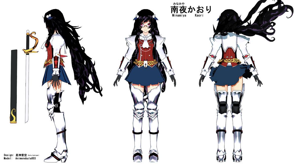 Kaori Minamiya OC reference by RaikuHoshigami