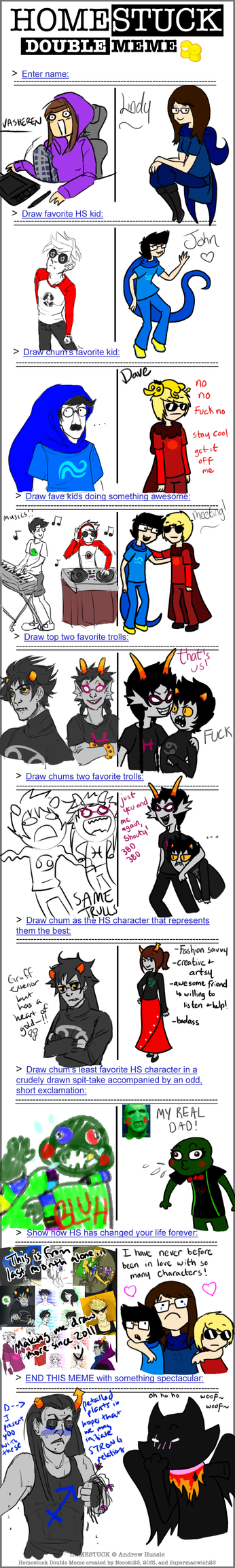 Homestuck Double Meme by LindorChocolate