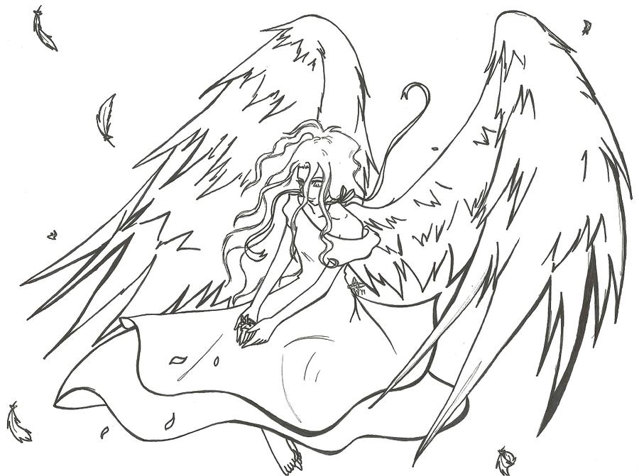 Line Art Angel : Angel lineart by aeris dragon on deviantart