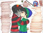John and Karkat: Do the kissy thing.