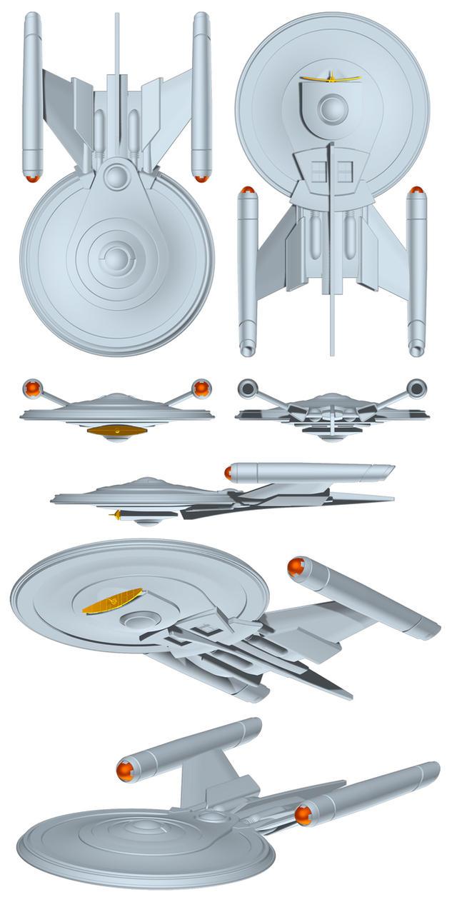 Star trek warp five ship by librarian bot on deviantart for Wohnung star trek design