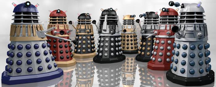 Daleks in Technicolour