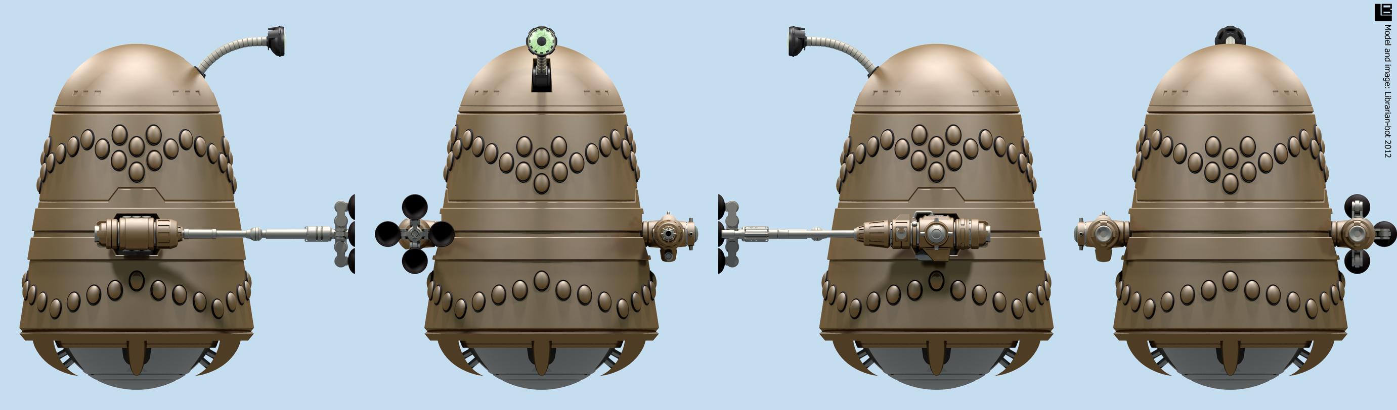 Hayakawa Golden Dalek by Librarian-bot