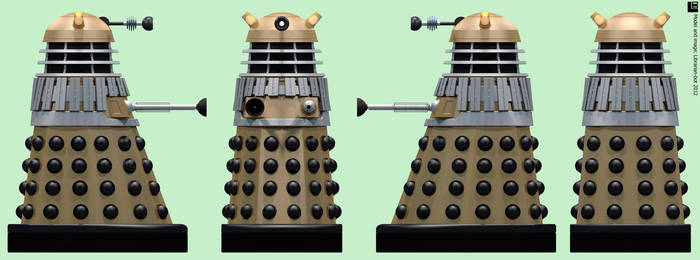 AARU Invasion Gold Dalek by Librarian-bot