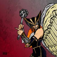 Hawkgirl by lone-wolf-boudin
