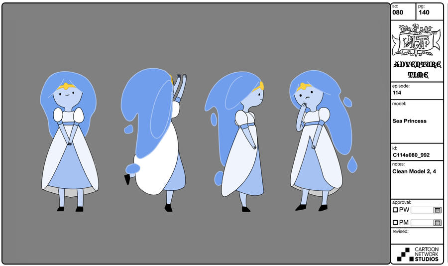 Design An Adventure Time Character : �princesa oceano taringa