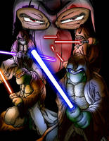 Teenage Mutant Jedi Turtles 2 by lavhoes