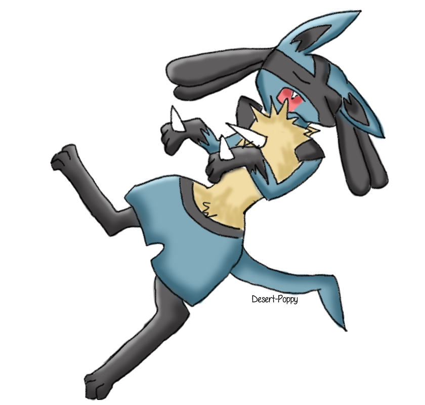 Sleeping Lucario by Desert-Poppy