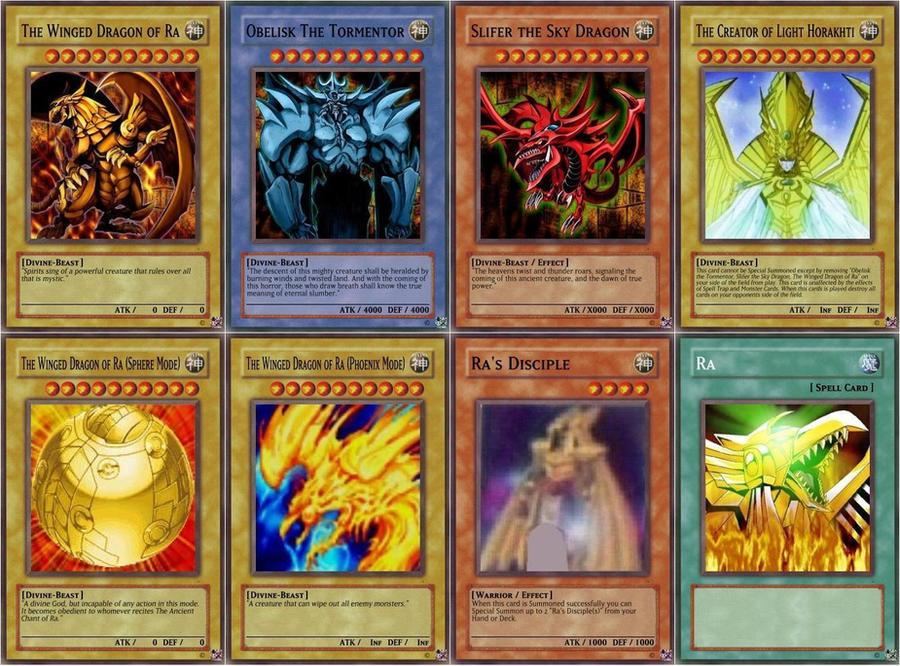 Yugioh Egyptian God Cards Deck Yugioh Gods Cards Yugioh Gods