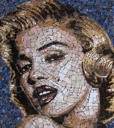 Ceramic Mosaic Marilyn Monroe by Radan22