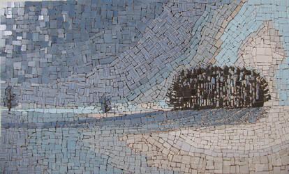 Ceramic Mosaic winter landscape by Radan22