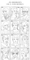 25 Portraits For A 25th B-day by bleuphoria