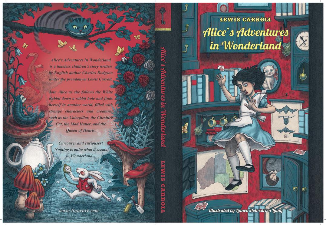 Alice In Wonderland Book Cover Ideas : Alice s adventures in wonderland book cover by bleuphoria