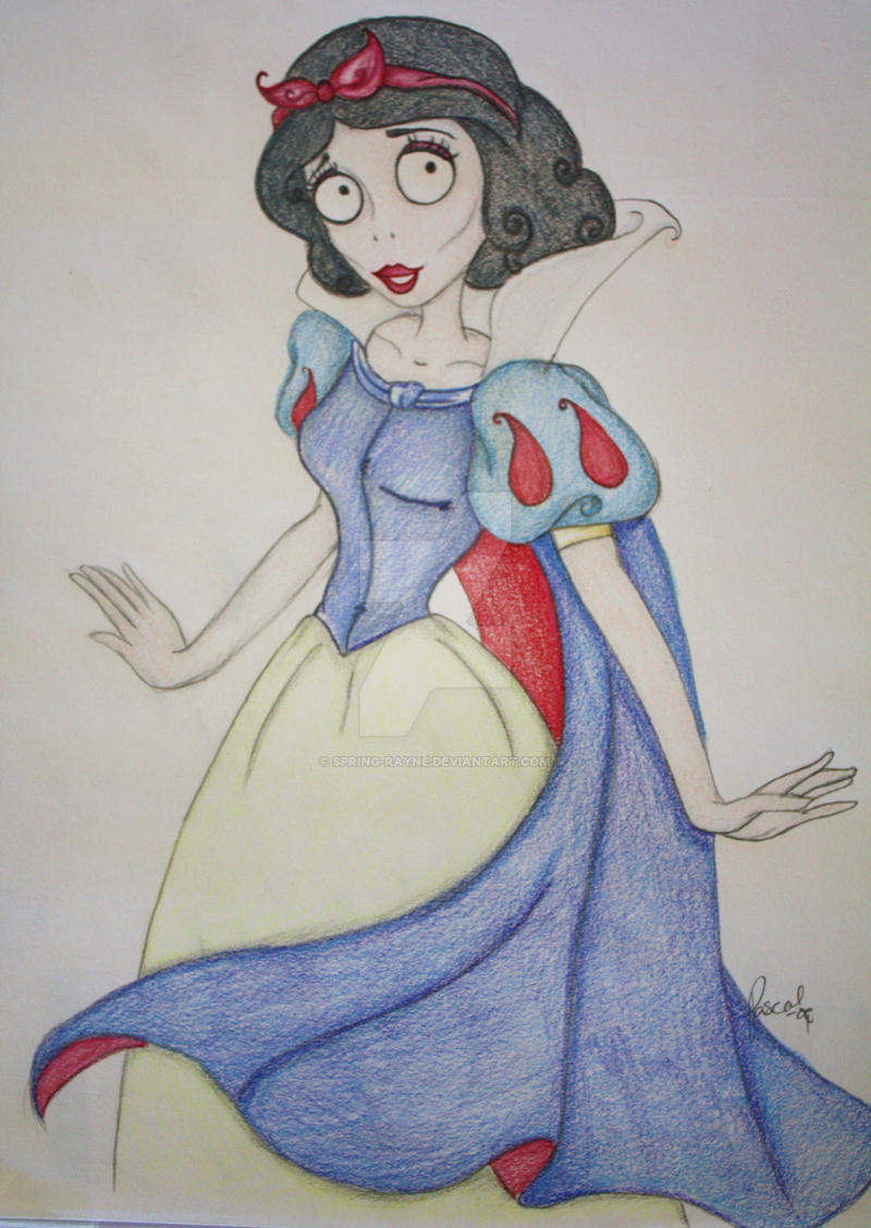 Tim Burton Snow White by spring-Rayne