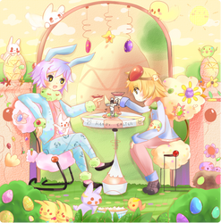Colorful Easter by iingo