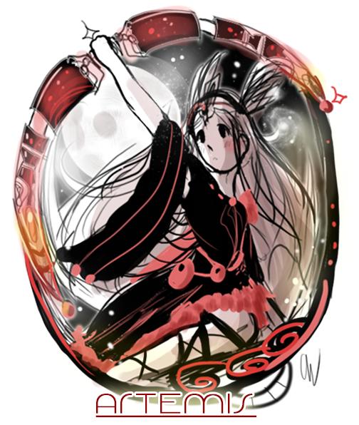 Artemis Doodle by iingo