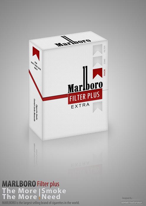 New Marlboro cigarettes black